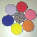 FOR THE FIRST CIRCLE, COLOURED SAND